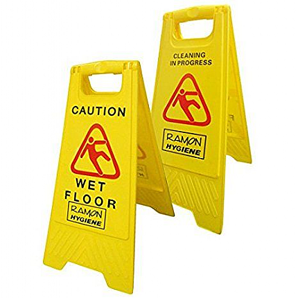 A Frame Caution Cleaning Stand