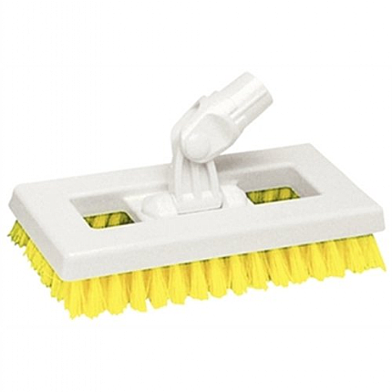 Yellow SYR Deck Scrubber Brush